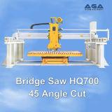 平板の切断の花こう岩または大理石(HQ700)の45度の回転を用いる石造り橋鋸引き機械