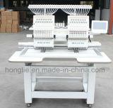 Máquina de alta velocidade principal do bordado Ho1502 2 para o bordado feliz das calças de brim do couro de toalha do tampão 3D do negócio