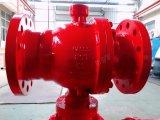 Pneumático Pn63 Casting Steel Wcb RF Lcb Válvula de esfera flangeada