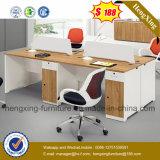 밑바닥 가격 사무실 책상 4 시트 워크 스테이션 사무실 분할 (HX-6M201)