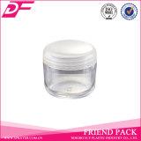 Mini vaso di plastica del contenitore cosmetico, vaso cosmetico di plastica