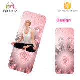 Couvre-tapis respectueux de l'environnement durable de yoga en caoutchouc normal avec la marque de distributeur