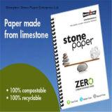 Papier à base de pierre imperméable à l'eau de qualité alimentaire bon pour l'impression et le paquet