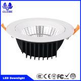 blanco caliente de aluminio blanco LED Downlight de Dimmable de la MAZORCA 7W redondo/cuadrado
