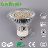 proyector de cristal de la lámpara del shell LED de Dimmable del bulbo de 3W GU10 LED