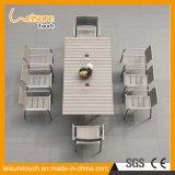 Nuovo insieme allungabile della Tabella pranzante di disegno per la mobilia di alluminio anodizzata terrazzo esterno del patio