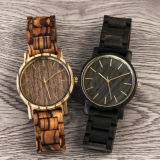 Dos relógios de pulso suíços de madeira do movimento das senhoras do relógio das mulheres relógio de madeira natural Handmade