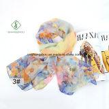Nieuw Ontwerp Dame Fashion Silk Scarf met Sakura Afgedrukte Sjaal