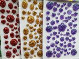 임시 귀영나팔 반짝임 스티커 비닐 스티커 로고 전사술 수정같은 스티커 자동 접착 스티커 (TSG-01)