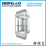 Gute Qualitätsglas-besichtigender panoramischer Beobachtungs-Aufzug mit Vvvf Einheit