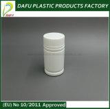 Бутылка микстуры белого PE 60ml пластичная с крышкой винта