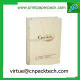 Costume requintado saco de papel de empacotamento impresso do presente da jóia da cor clara