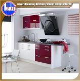 Muebles laminados brillantes de la cocina del MDF