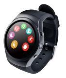 Teléfono móvil del reloj con el monitor del ritmo cardíaco