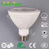 la IGUALDAD de aluminio y plástica del LED enciende luces de la viruta 18W E27 LED de la MAZORCA