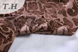 2016 großes dunkles Folowers Polyester-Gewebe 100% für Sofa und Möbel (FTH32093)