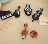 Instrumentos musicais Modelo USB Flash Violino / Piano / Guitar Pen Drive
