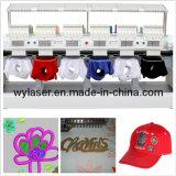 Wonyo 6 자유로운 디자인을%s 가진 헤드에 의하여 전산화되는 모자 &T-Shirt& 편평한 자수 기계
