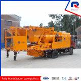 Do misturador gêmeo do eixo da planta da manufatura da polia bomba concreta montada caminhão de tratamento por lotes concreta móvel versátil com Batcher (JBC40-L)