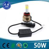 360 4 측 자동 LED 전구 H11 차 LED 헤드라이트