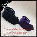 Gravatas tecidas da cor contínua seda magro Handmade para homens