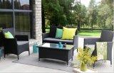 藤のソファーの一定の屋外のソファーのPEの藤の家具