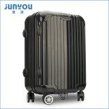 Оптовый популярный холодный черный багаж мешка перемещения цвета с колесами и чемоданом вагонетки ручки