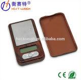 маштаб ювелирных изделий миниого карманного маштаба ладони маштаба 100g/0.01g деревянный