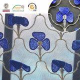 Vestuário C10029 da tela do laço do bordado do teste padrão da orquídea 3D da traça, o macio e o delicado, o elegante do laço