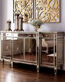 Antique Mirrored Wooden Console Sever Table Accent Home Furniture