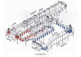 Linha de revestimento eletrostática do pó para o tanque de petróleo