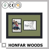 Frame de retrato de madeira moderno do quadrado branco com montagem