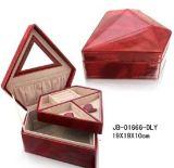 Caixa de jóia de couro do falso Shining da forma do diamante