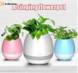 Nachladbare drahtlose Bluetooth wasserdichte Flowerpot-Lautsprecher-Note pflanzt Spiel-Musik