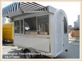 Carro móvil de acero fuerte Tuk Tuk del alimento de Ys-FT280c para la venta