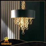 Luz chapeada do pendente do candelabro do ferro ouro gracioso (ka9022)