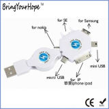 Customed 6 in 1 Intrekbare Kabel USB voor Slimme Telefoon