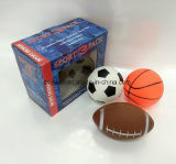 Миниые шарики 5 дюймов 3 установили баскетбола рэгби футбола