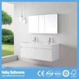 Mobília superior do banheiro da classe com 2 bacias e gabinetes do espelho (BF370D)