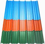 Feuille de toiture d'Apvc/UPVC/PVC colorée longue par envergure pour le matériau de construction