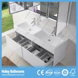 Верхняя мебель ванной комнаты ранга с 2 тазиками и шкафами зеркала (BF370D)
