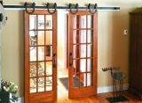 Seguridad de acero corrediza de madera de puerta de granero de hardware (BDH-04)