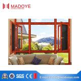 Ventana abatible de aluminio para la veranda hecha en China
