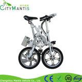 Bici plegable de la bici eléctrica de 16 de la pulgada del neumático neumático frenos de disco