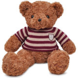 Brinquedo enchido macio feito malha urso personalizado relativo à promoção do luxuoso da camisa da peluche T do logotipo