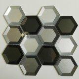 Newesf bunte umrandete Hexagon-Glasmosaik-Fliese