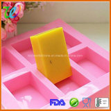 Fabrik-FDA-gebilligte 6 Kammer-quadratische Silikon-Kuchen-Großhandelsform