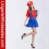 여자의 Halloween 당 Mario 형제 성숙한 공상 복장 복장