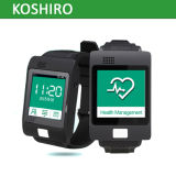 Fréquence cardiaque contrôlant la montre intelligente avec le traqueur du glucose sanguin GPS de pression sanguine