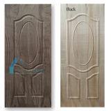 Ep 티크 나무 베니어를 가진 주조된 합판 문 피부